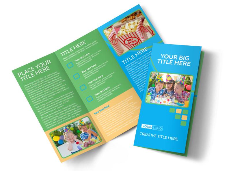 Child Party Service Tri-Fold Brochure Template