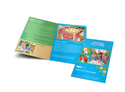 Child Party Service Bi-Fold Brochure Template preview