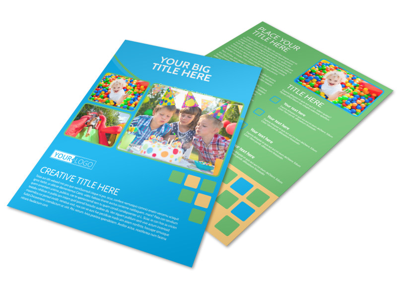 Child Party Service Flyer Template