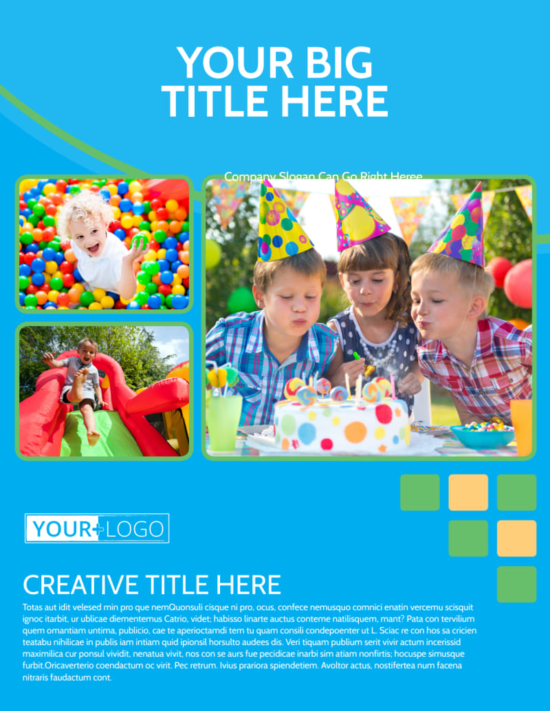 Child Party Service Flyer Template Preview 2