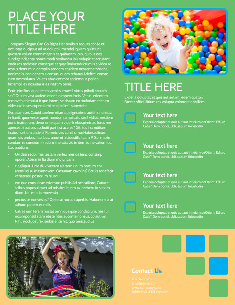 Child Party Service Flyer Template Preview 3