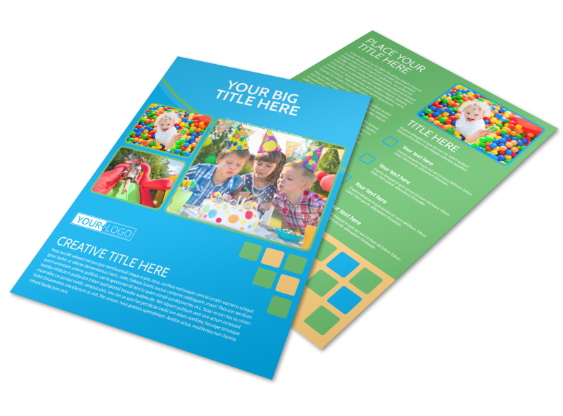Child Party Service Flyer Template Preview 1