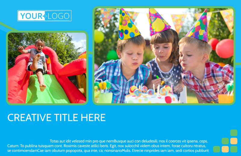 Child Party Service Postcard Template Preview 2