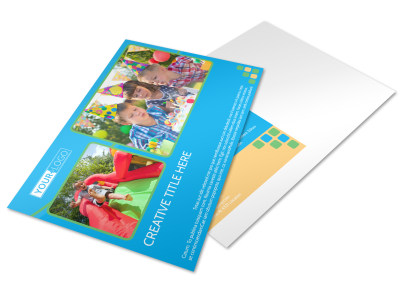 Child Party Service Postcard Template preview