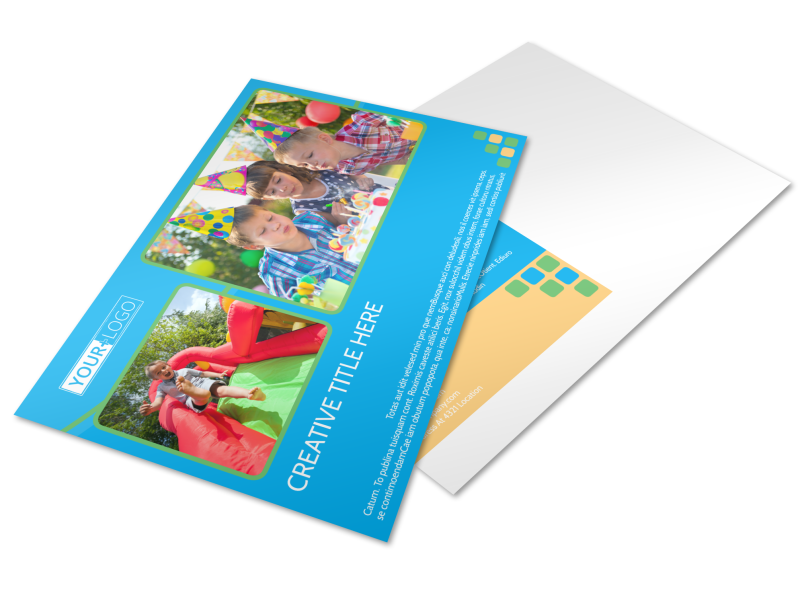 Child Party Service Postcard Template Preview 1
