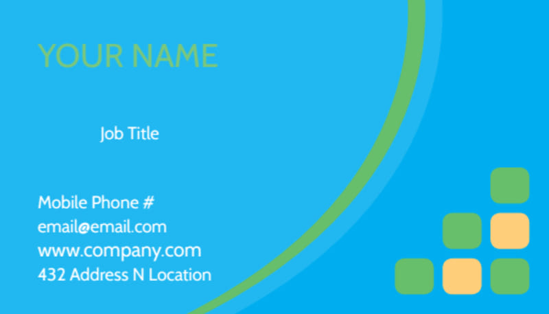 Child Party Service Business Card Template Preview 2