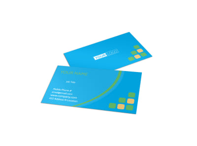 Child Party Service Business Card Template preview