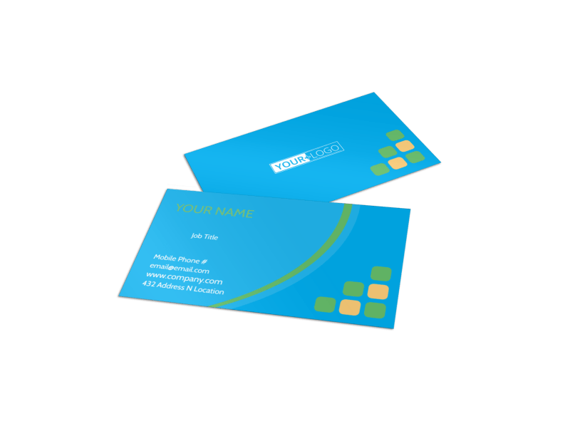 Child Party Service Business Card Template Preview 1