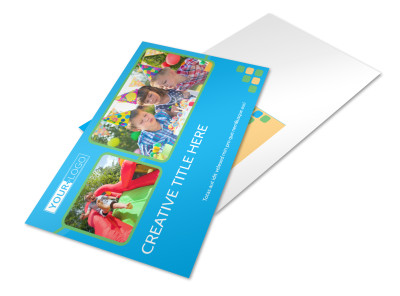 Child Party Service Postcard Template