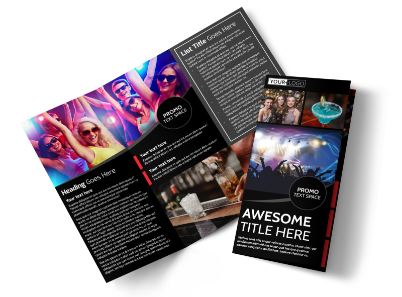 Popular Night Club Tri-Fold Brochure Template