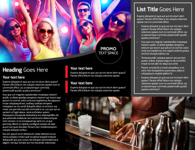 Popular Night Club Brochure Template Preview 2