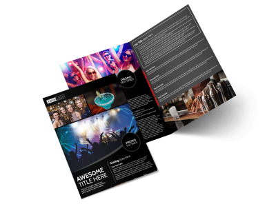 Popular Night Club Bi-Fold Brochure Template