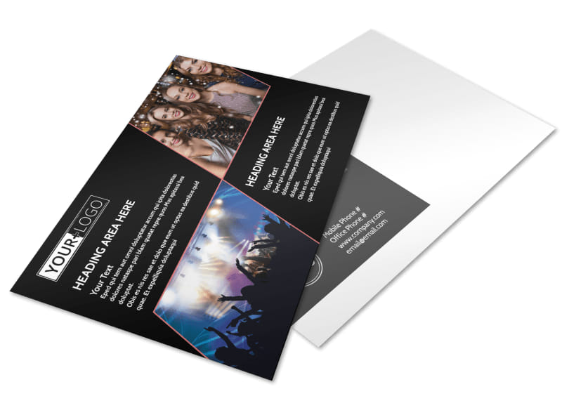 Popular Night Club Postcard Template Preview 4