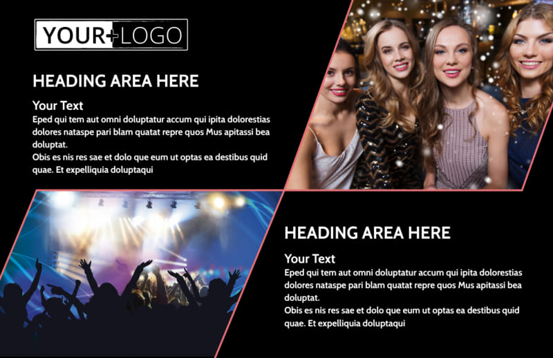 Popular Night Club Postcard Template Preview 2