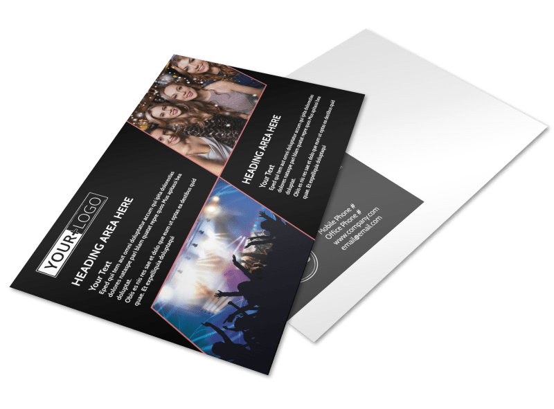 Popular Night Club Postcard Template Preview 1