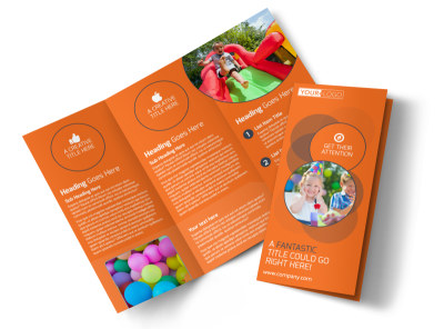 Kids Party Supply Rental Tri-Fold Brochure Template preview