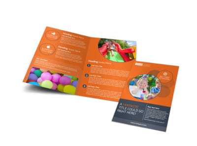 Kids Party Supply Rental Bi-Fold Brochure Template preview