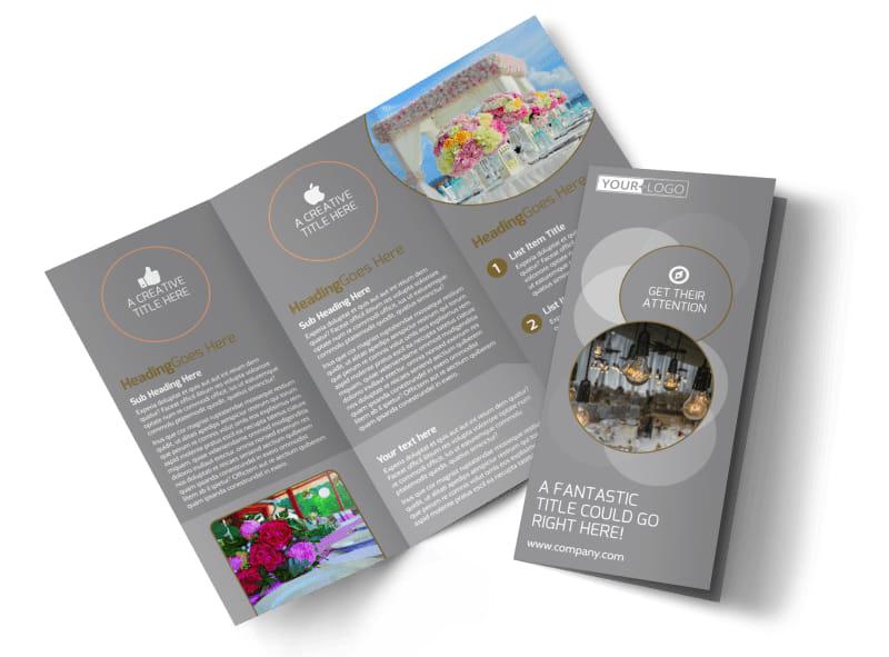 Wedding & Formal Events Center Tri-Fold Brochure Template