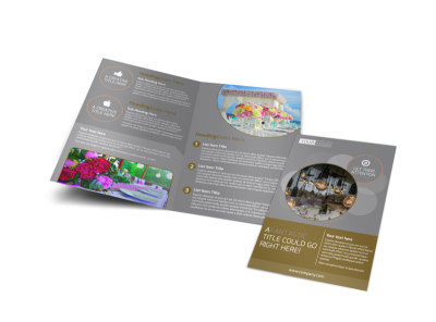 Wedding & Formal Events Center Bi-Fold Brochure Template preview