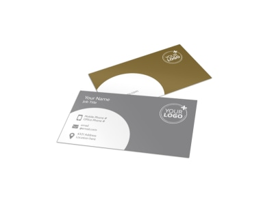 Wedding & Formal Events Center Business Card Template