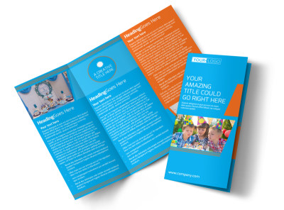 Birthday Party Service Tri-Fold Brochure Template preview