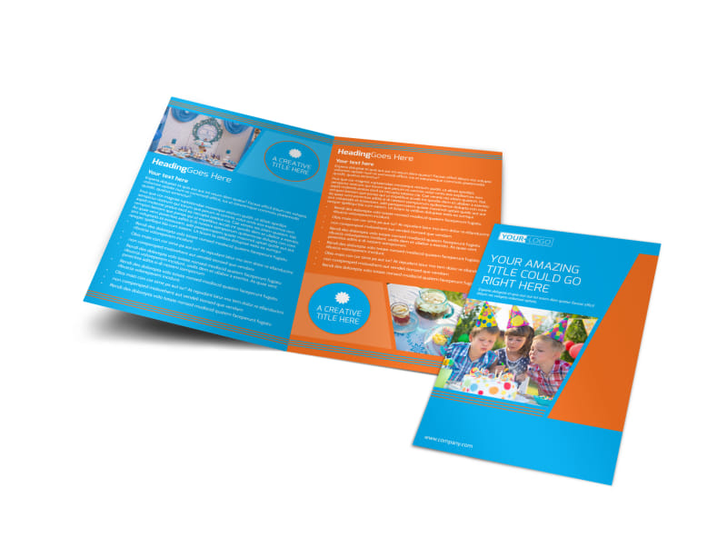 Birthday Party Service Bi-Fold Brochure Template