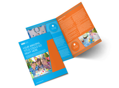 Birthday Party Service Bi-Fold Brochure Template preview