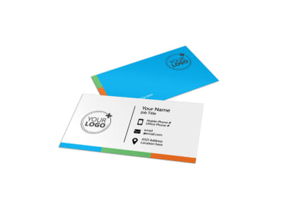 Birthday Party Service Business Card Template preview