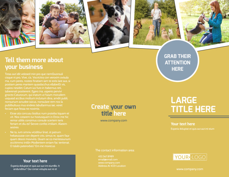 Dog Obedience Club Brochure Template Preview 2