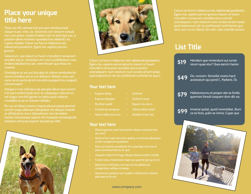 Dog Obedience Club Brochure Template Preview 3