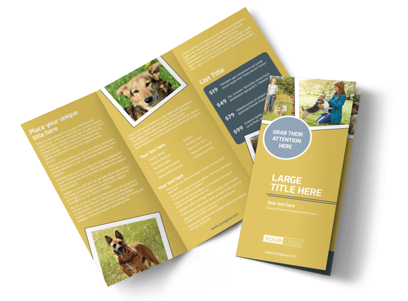 Dog Obedience Club Brochure Template Preview 1