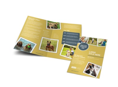 Dog Obedience Club Bi-Fold Brochure Template preview