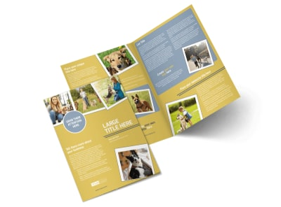 Dog Obedience Club Bi-Fold Brochure Template