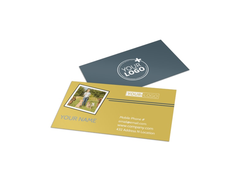 Dog Obedience Club Business Card Template Preview 4