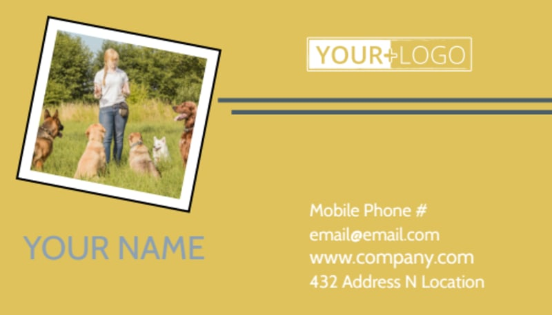 Dog Obedience Club Business Card Template Preview 2