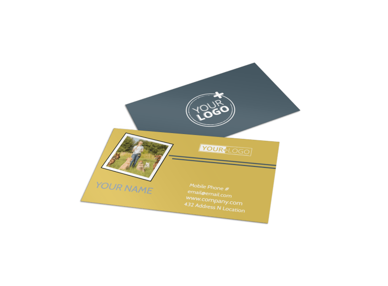 Dog Obedience Club Business Card Template Preview 1