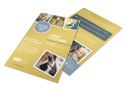 Dog Obedience Club Flyer Template preview