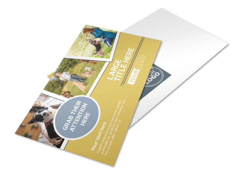 Dog Obedience Club Postcard Template