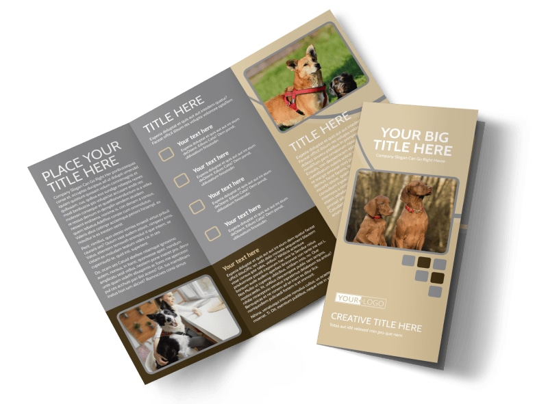Dog Daycare Tri-Fold Brochure Template