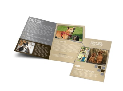 Dog Daycare Bi-Fold Brochure Template