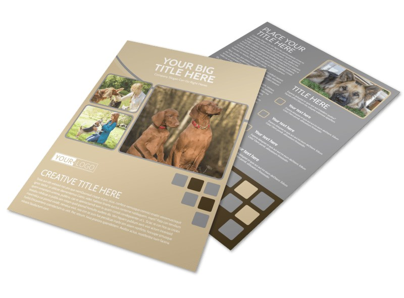Dog Daycare Flyer Template  Mycreativeshop