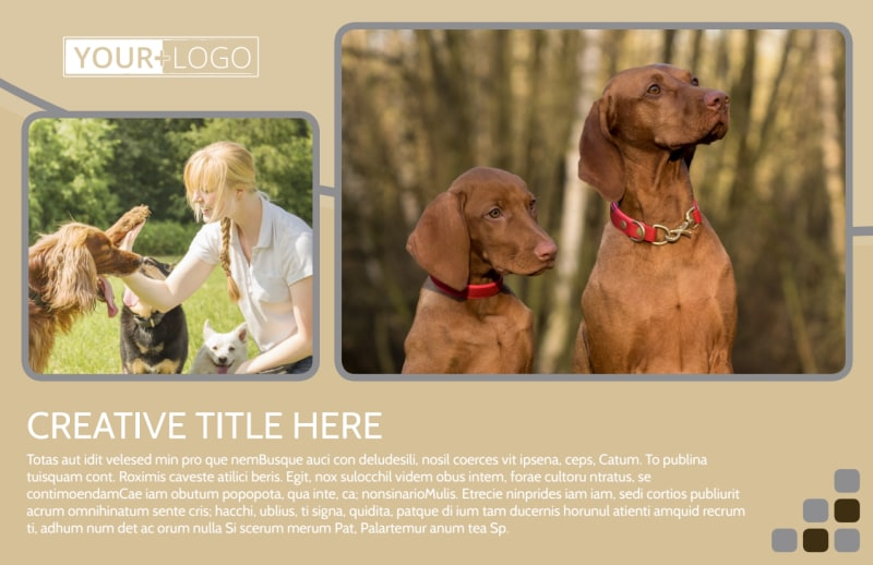 Dog Daycare Postcard Template Preview 2