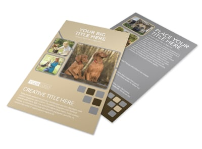 Dog Daycare Flyer Template preview