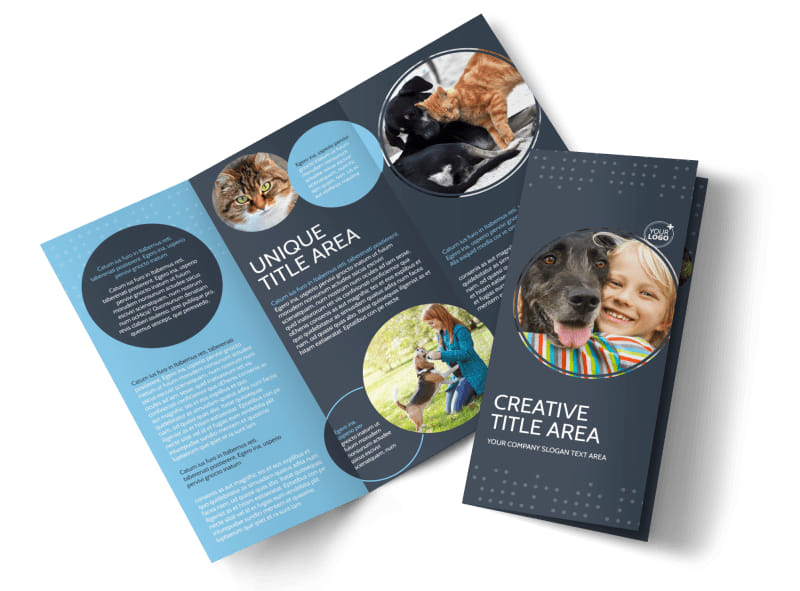 Pet Project Rescue Tri-Fold Brochure Template