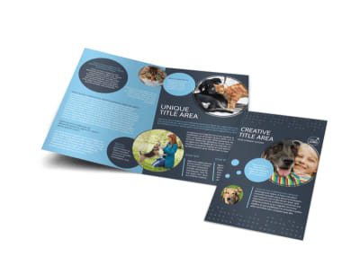 Pet Project Rescue Bi-Fold Brochure Template