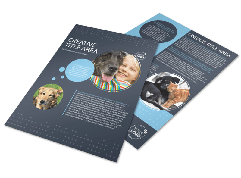 Pet Project Rescue Flyer Template
