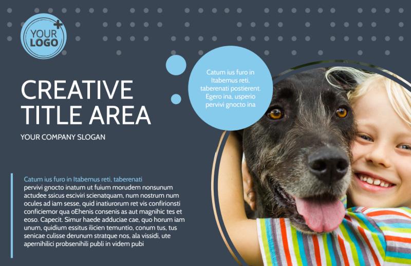 Pet Project Rescue Postcard Template Preview 2