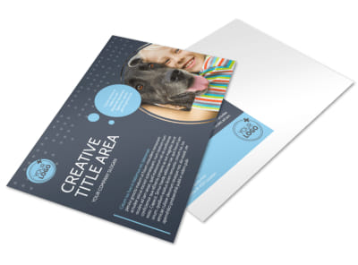 Pet Project Rescue Postcard Template preview
