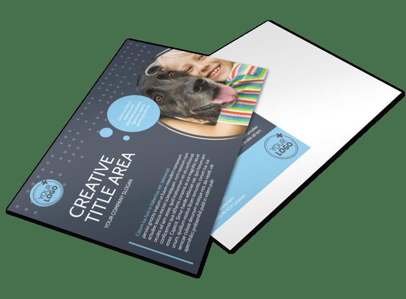 Pet Project Rescue Postcard Template Preview 1