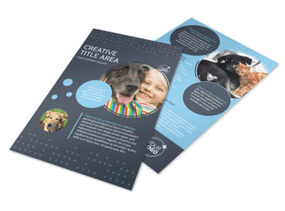 Pet Project Rescue Flyer Template preview